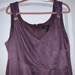 Long dress size 22W Purple/glitter